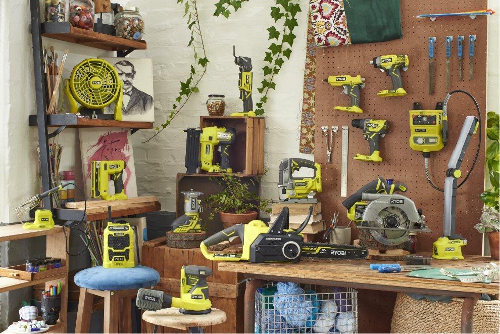 Alt ONE+ værktøj drevet med ét og samme batteri