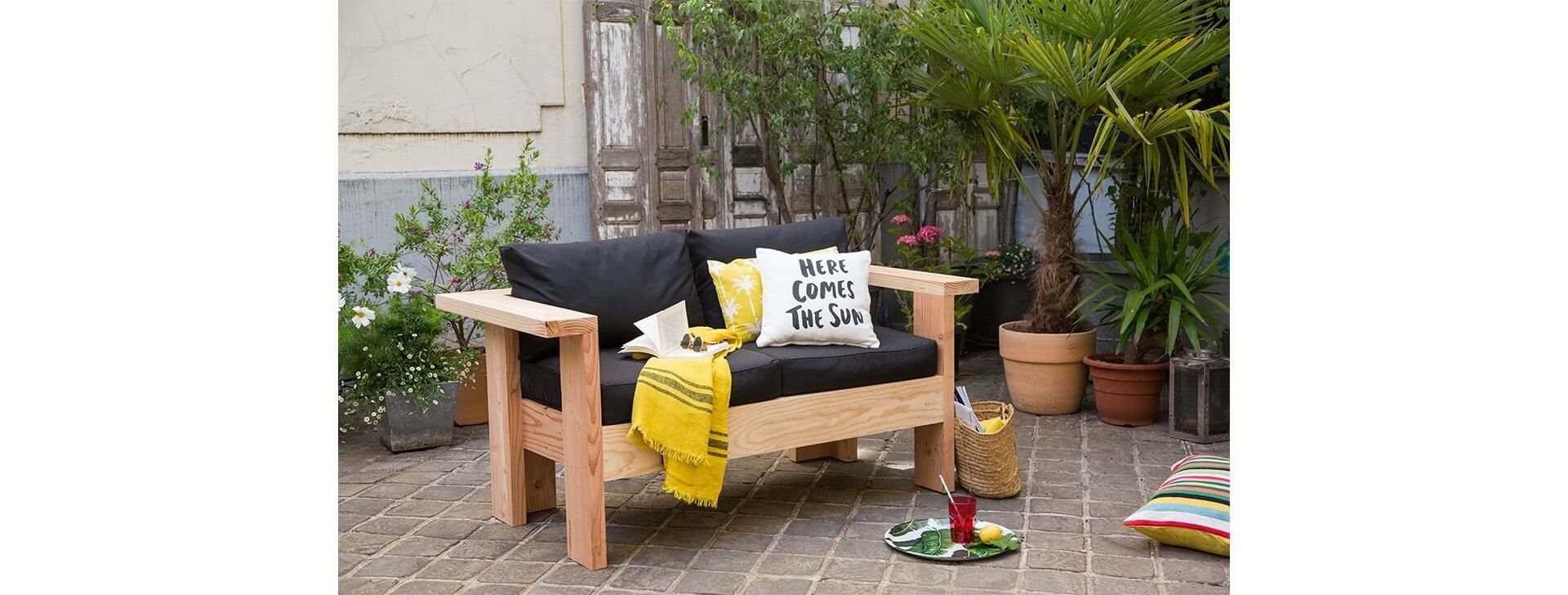 Tutoriel vidéo pour fabriquer un canapé, salon de jardin