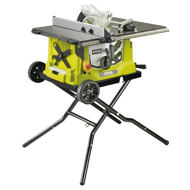 RTS1800EF-G 1800W Corded Table Saw, 254mm Blade, with Wheeled Stand
